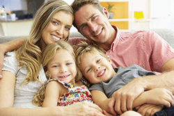 Happy Greenville Sc Family after having air conditioning fixed by Heating & Cooling Solutions